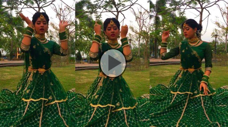 ranima ditipriya roy dances on sonar sangsar awards 2021 wearing green lehenga